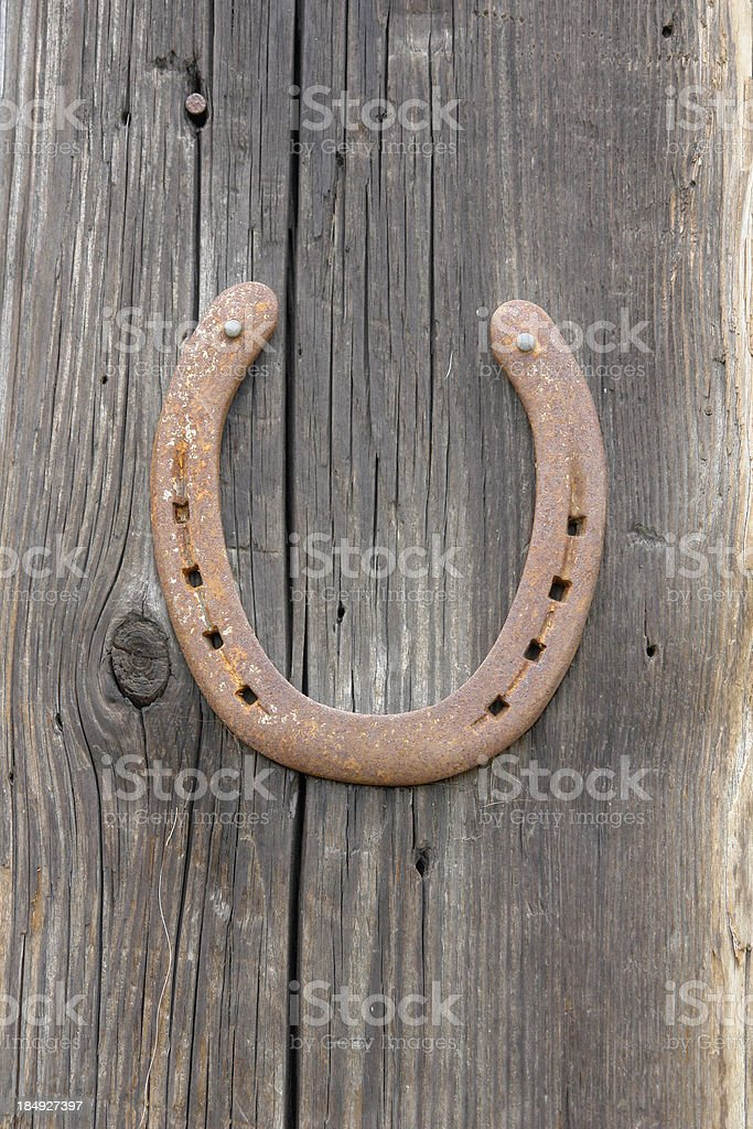 Horseshoe (with clipping path) royalty-free stock photo