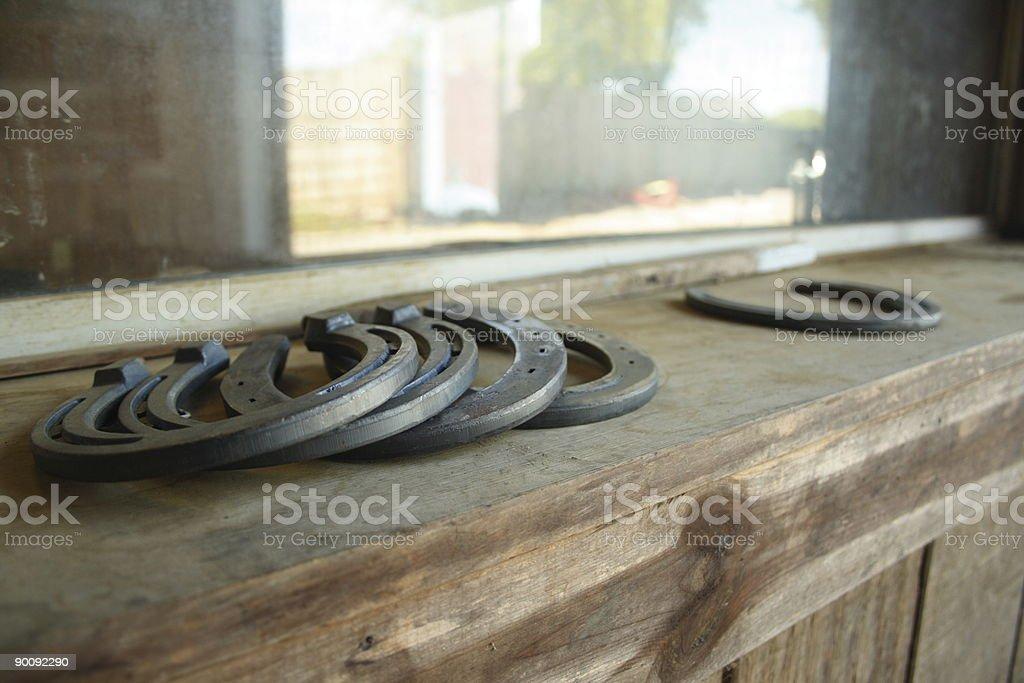 Horseshoes -- longshot royalty-free stock photo