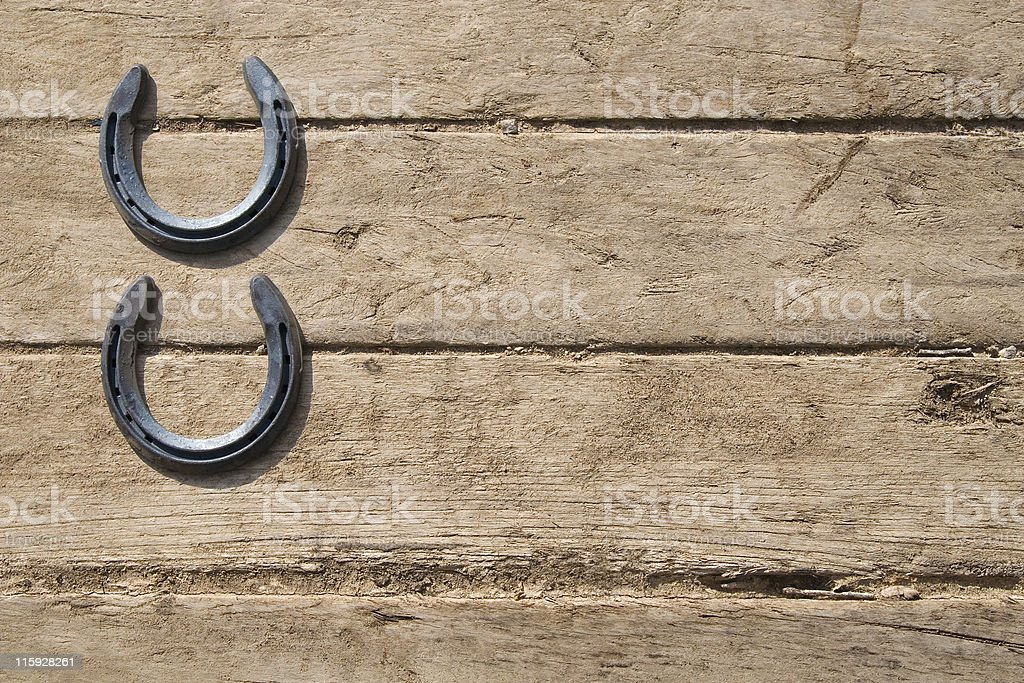 Horseshoes royalty-free stock photo