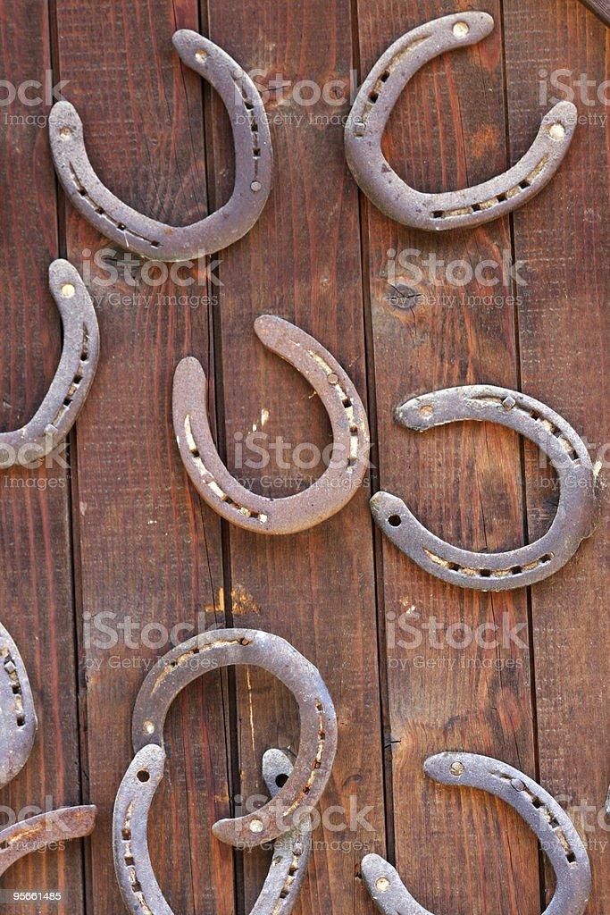 Horseshoes royalty-free stock photo