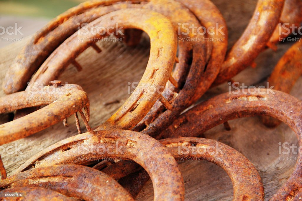 Horseshoes Rust Close Up royalty-free stock photo