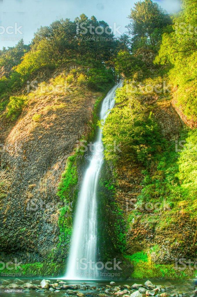 Огненный водопад-Ущелье реки Колумбия Стоковые фото Стоковая фотография