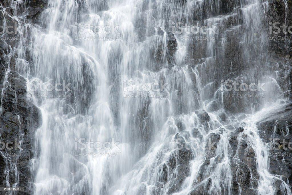 Horsetail Falls Keystone Canyon Valdez Alaska stock photo