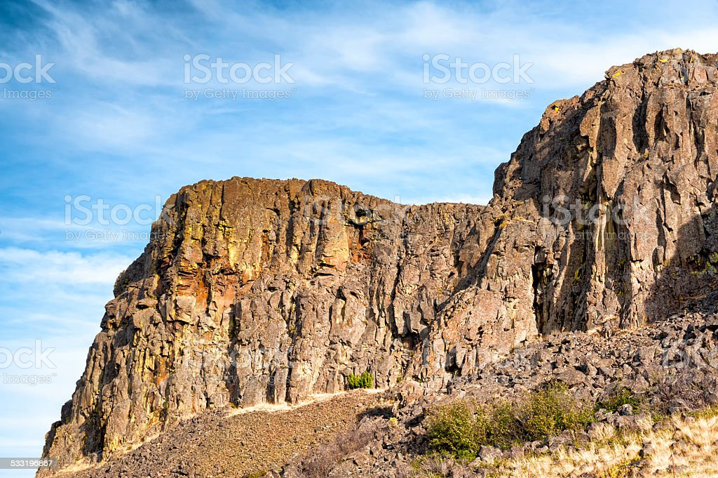 Horsethief Butte Columbia River Gorge stock photo