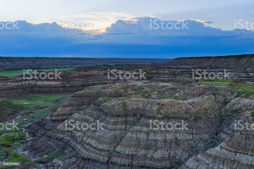 Horsethief Canyon, Alberta stock photo