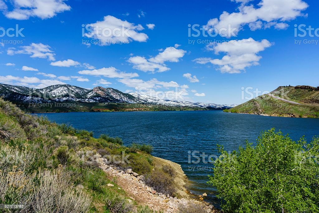 Horsetooth Reservoir, Fort Collins, Colorado stock photo