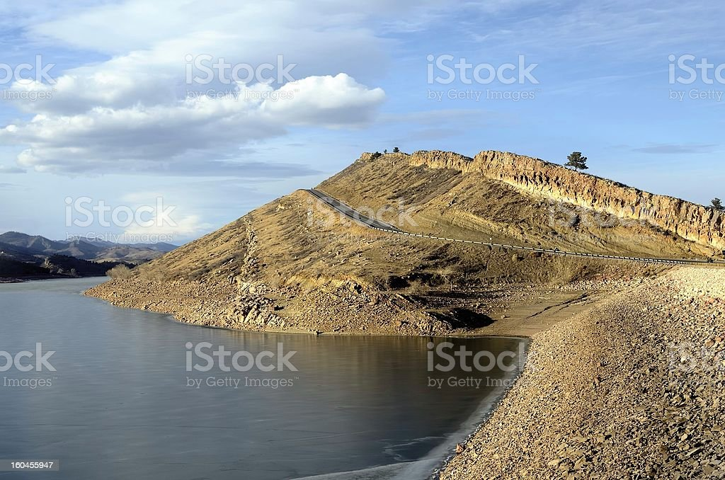 Horsetooth Reservoir, Fort Collins royalty-free stock photo