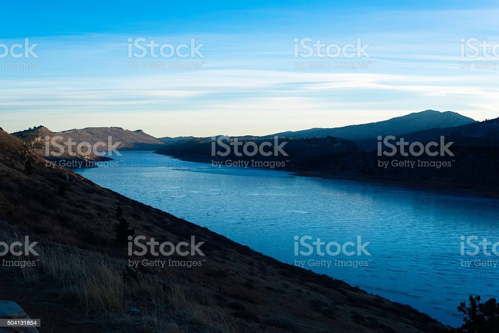 Horsetooth Reservoir, Fort Collins stock photo