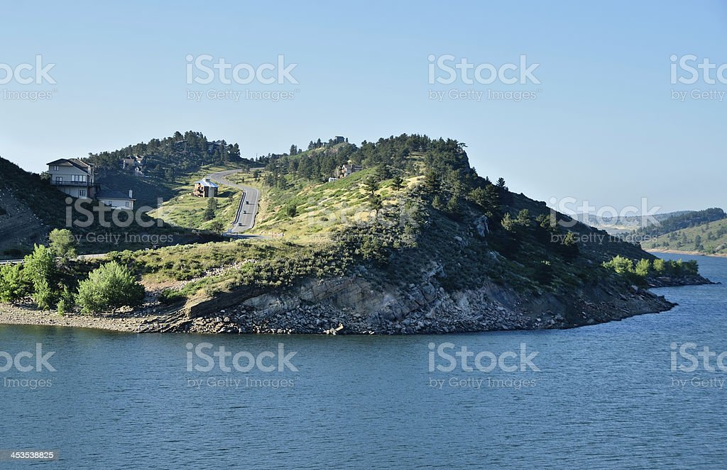 Horsetooth Reservoir Near Fort Collins, Colorado royalty-free stock photo