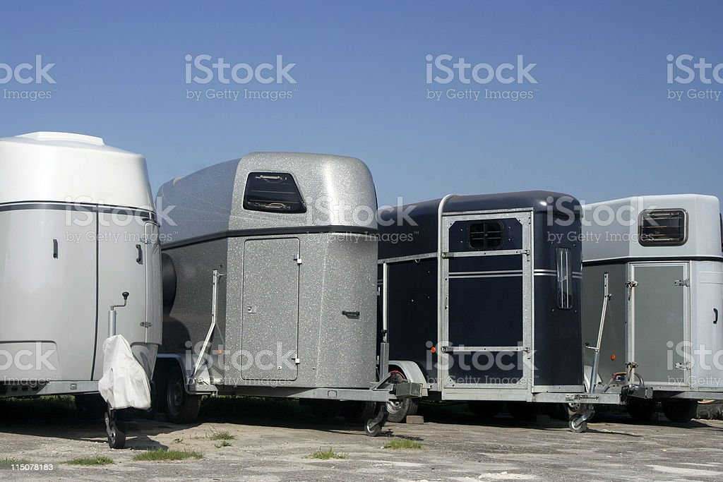 Horsetrailers royalty-free stock photo