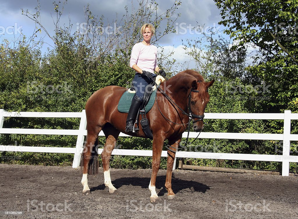 Horsewoman show riding 2a royalty-free stock photo