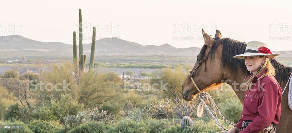 Horsewoman Vista royalty-free stock photo