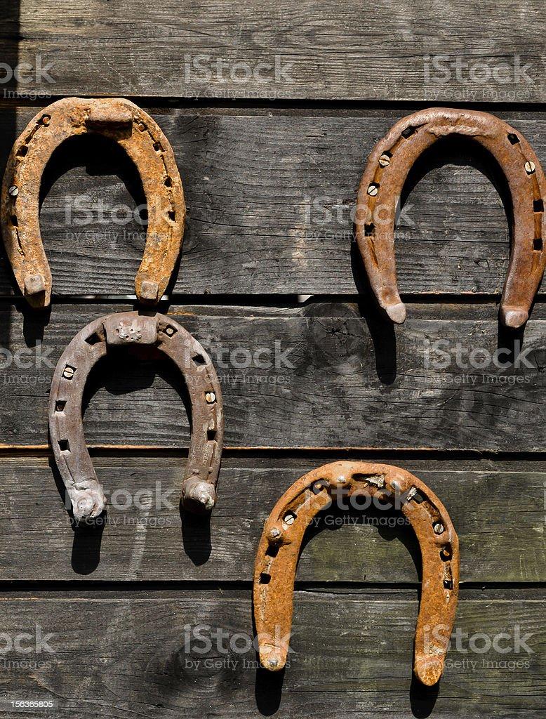 Horsheshoes-Symbole des Glücks Lizenzfreies stock-foto