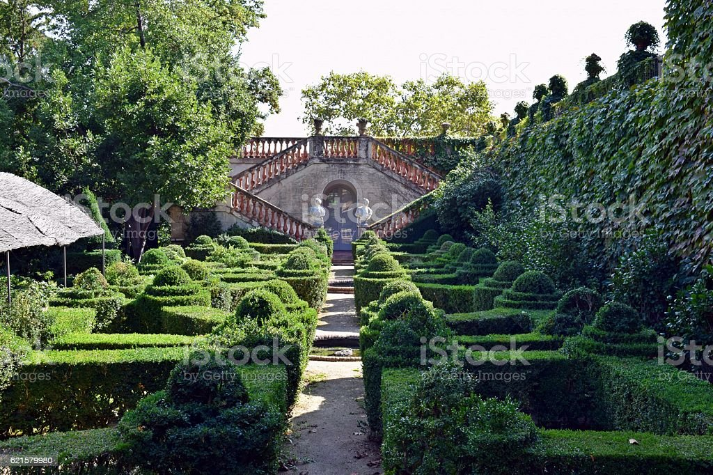 Parque Laberinto de Horta stock photo