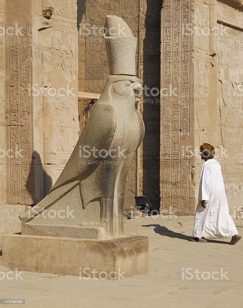 Horus Temple 02 stock photo