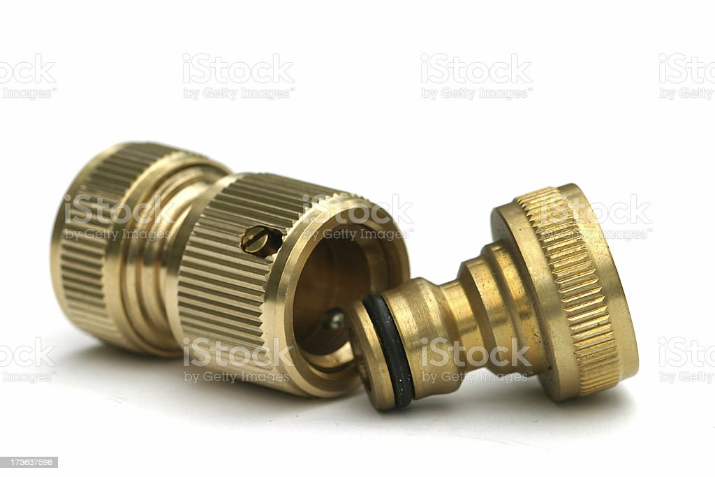 Hose couplings royalty-free stock photo