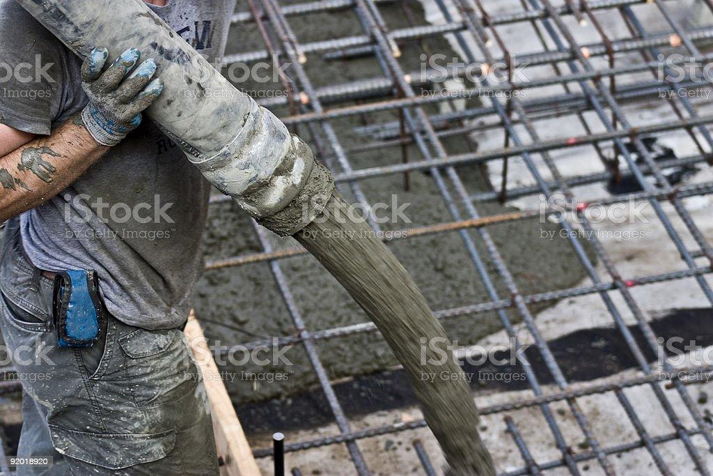 Hose -O- Concrete royalty-free stock photo