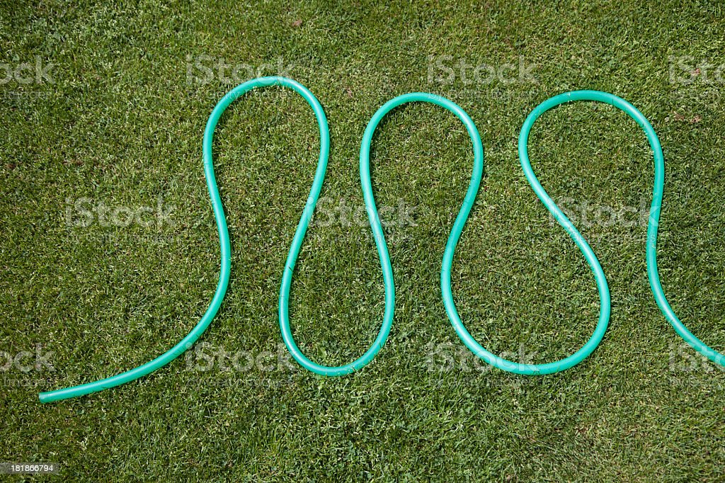 Hose on grass royalty-free stock photo