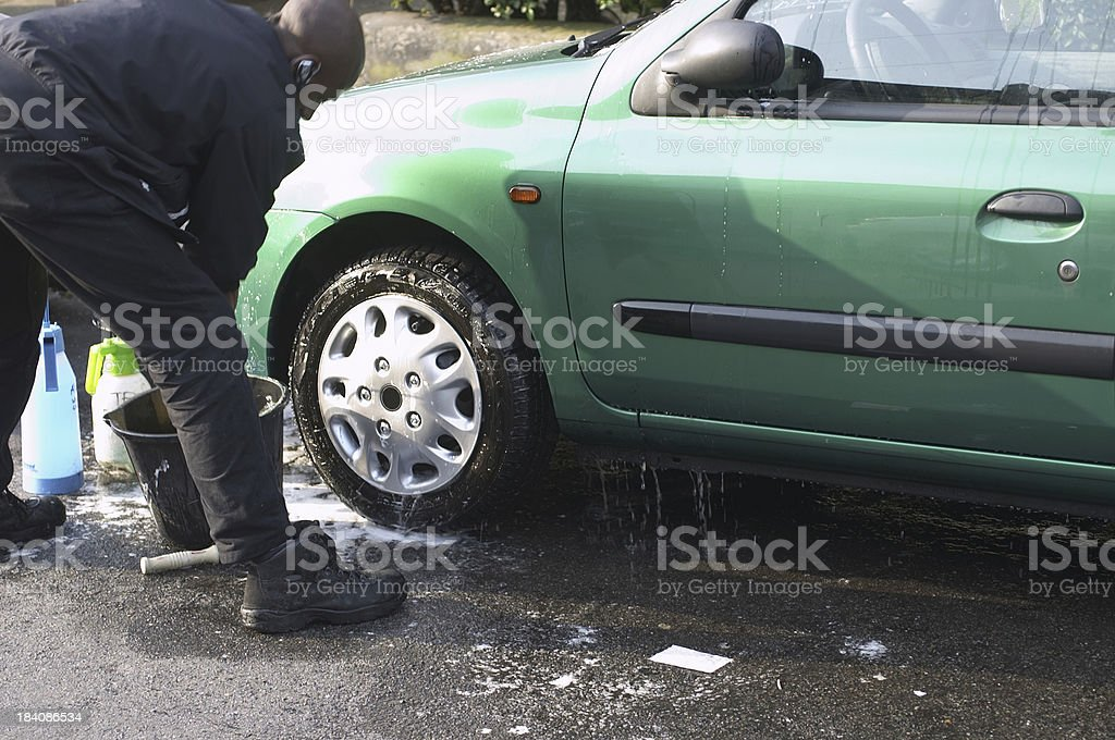 Save water end the drought car wash waterless valeting royalty-free stock photo