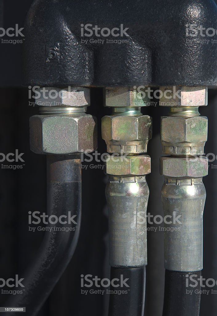 Hoses and Fittings royalty-free stock photo