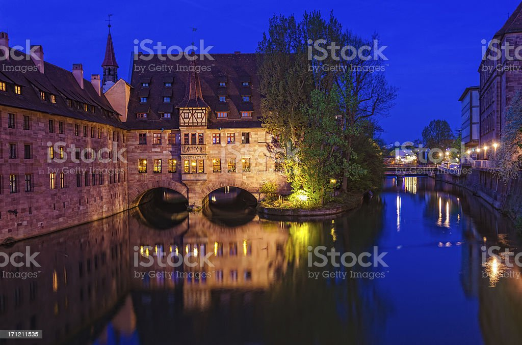 Hospice of the Holy Spirit (Heilig-Geist-Spital) Nuremberg stock photo