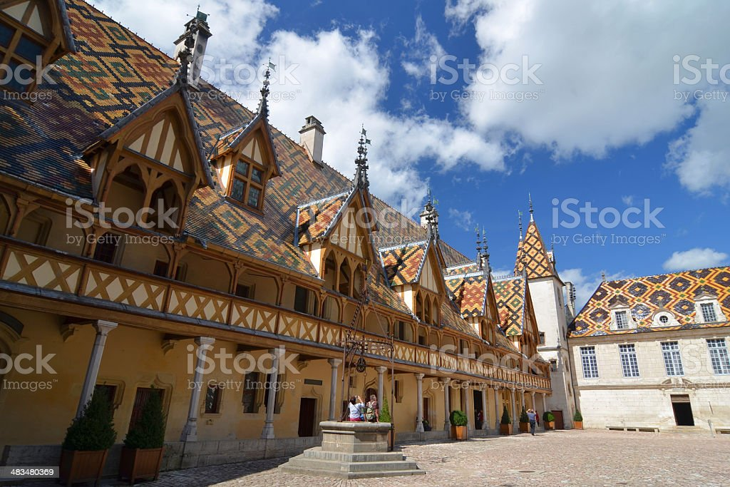 Hospices of Beaune stock photo
