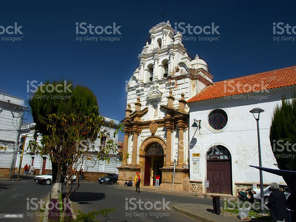 Hospital and Church of Saint Barbara in Sucre stock photo