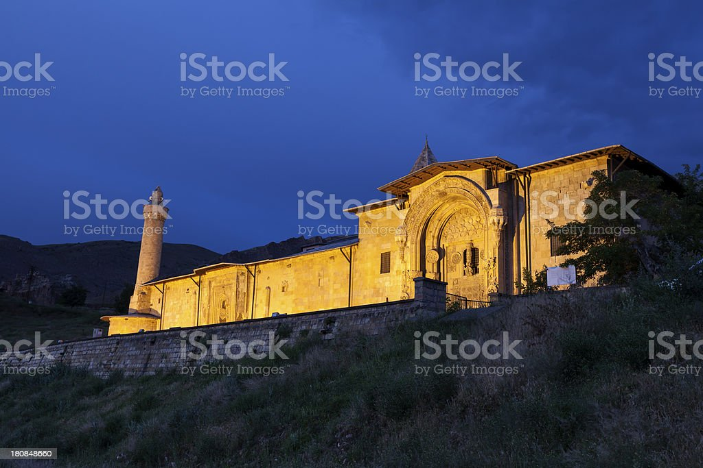 Hospital  and Grand Mosque stock photo