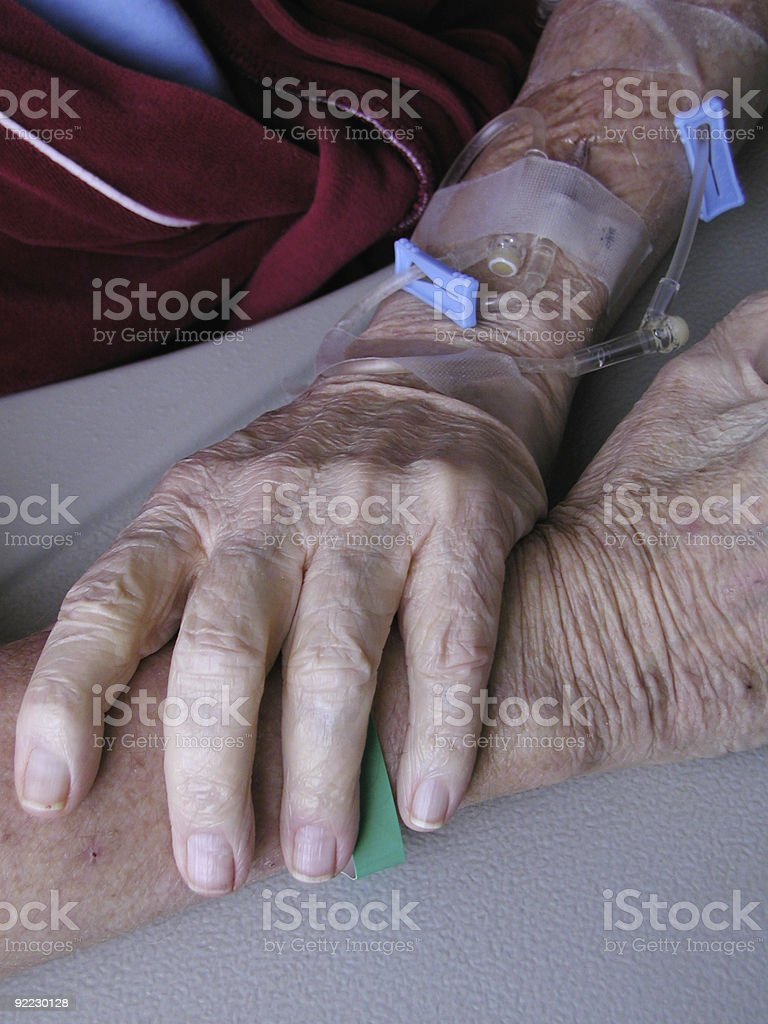 Hospital Arms royalty-free stock photo