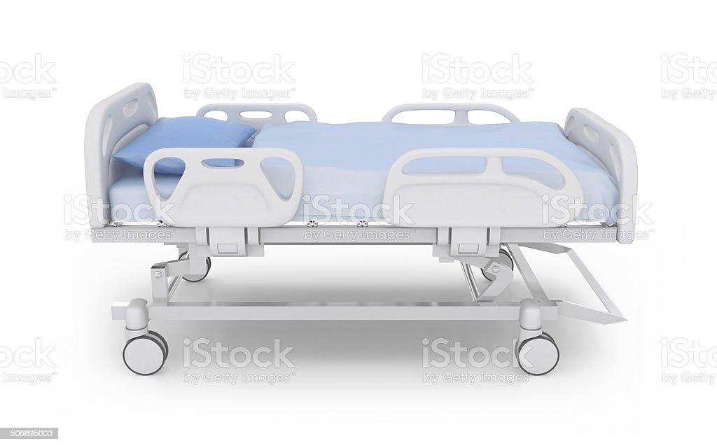 Hospital bed stock photo