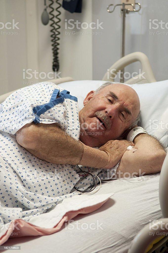 Hospital Bed - Sickness Senior Citizen royalty-free stock photo