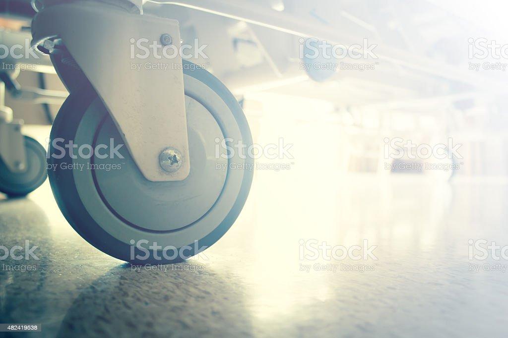 Hospital Bed Wheels stock photo