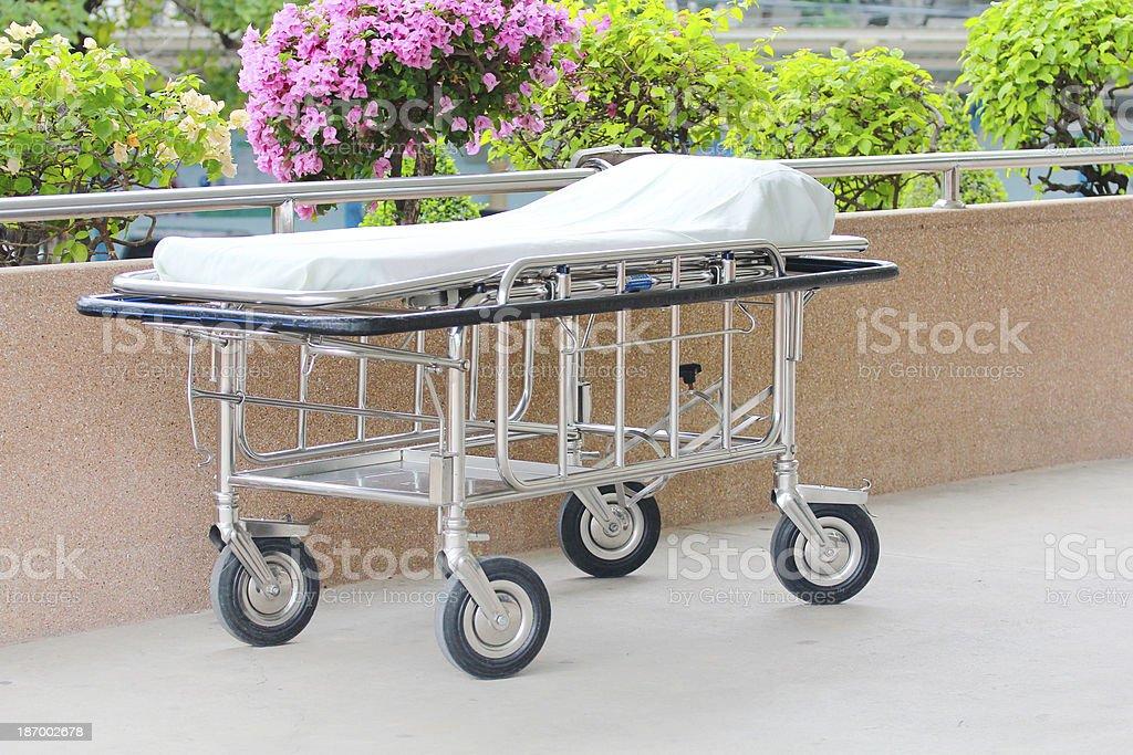 Hospital beds stock photo