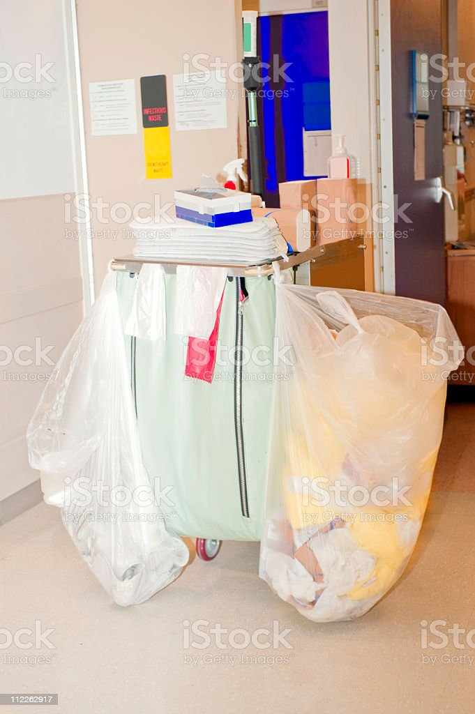 hospital cleaning cart royalty-free stock photo