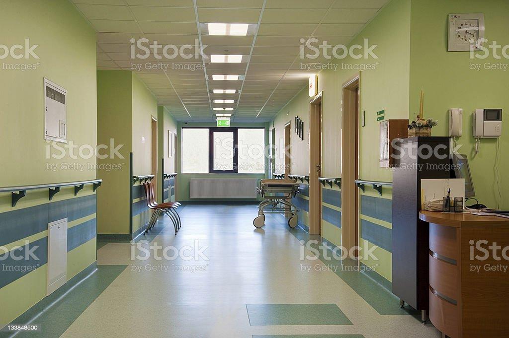 Hospital corridor royalty-free stock photo