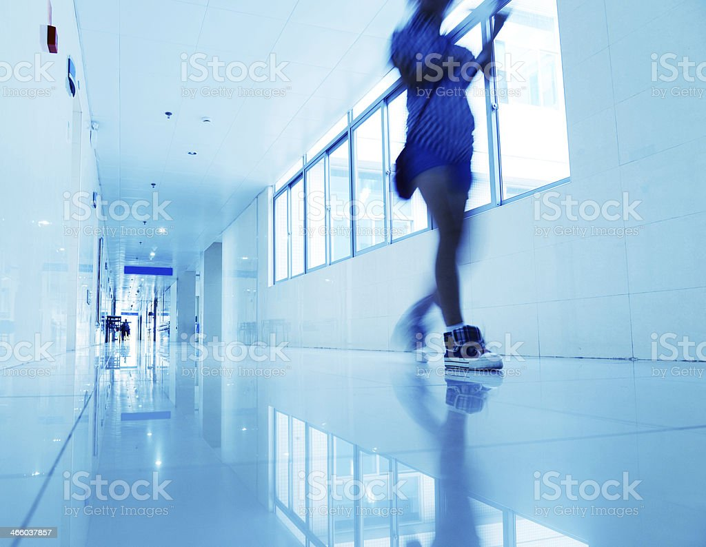 hospital corridor royalty-free stock photo