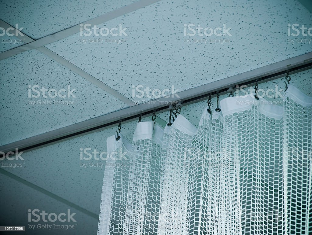 Hospital curtain royalty-free stock photo