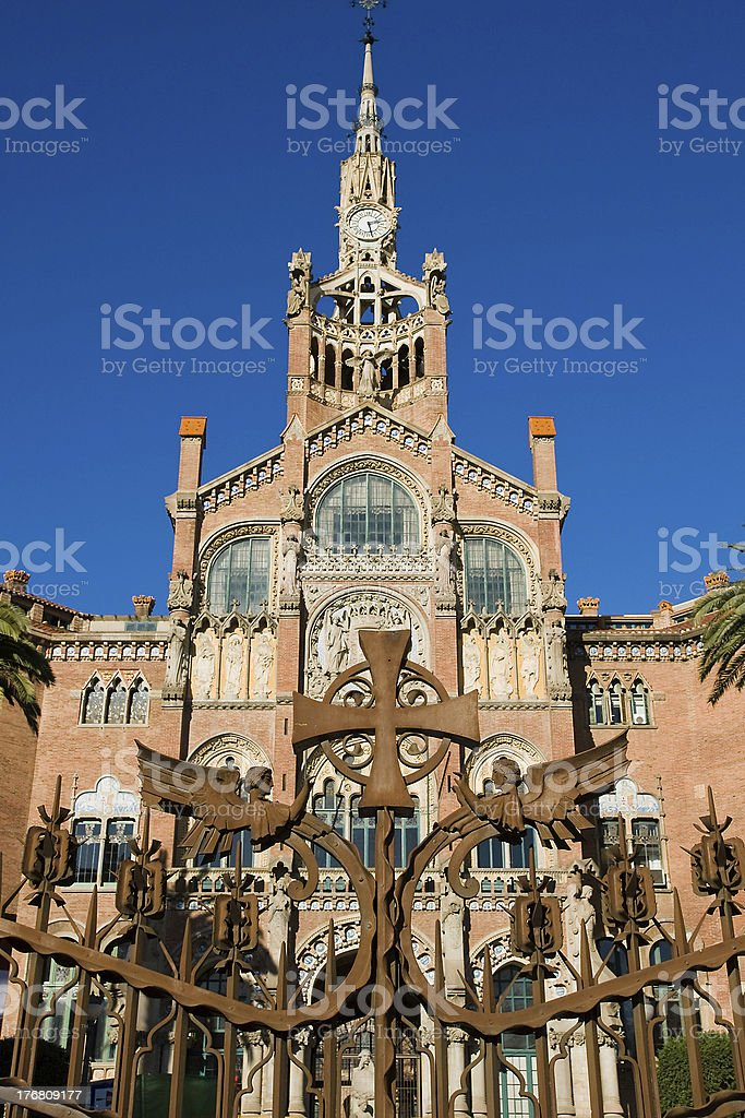 Hospital de Sant Pau, Barcelona, Spain royalty-free stock photo