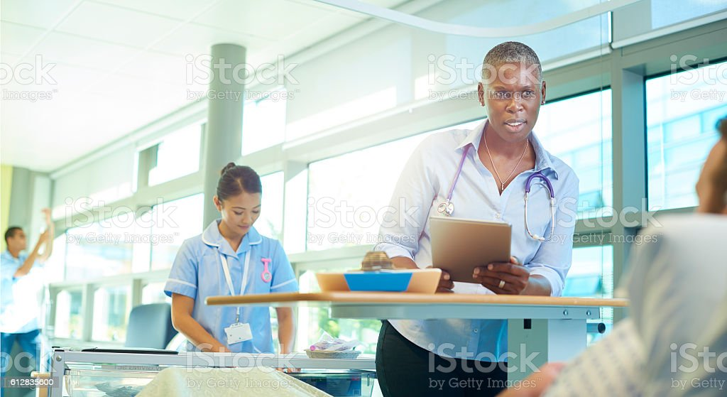 hospital doctor visit stock photo