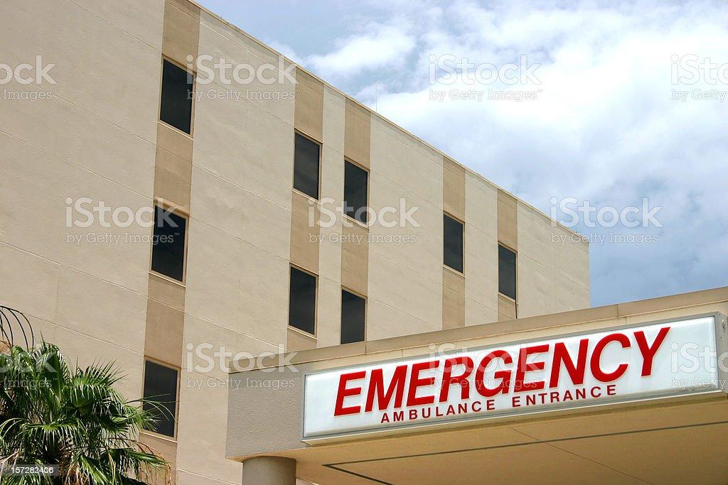 Hospital Emergency Ambulance Entrance royalty-free stock photo