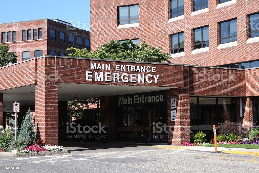 Hospital Emergency Entrance stock photo