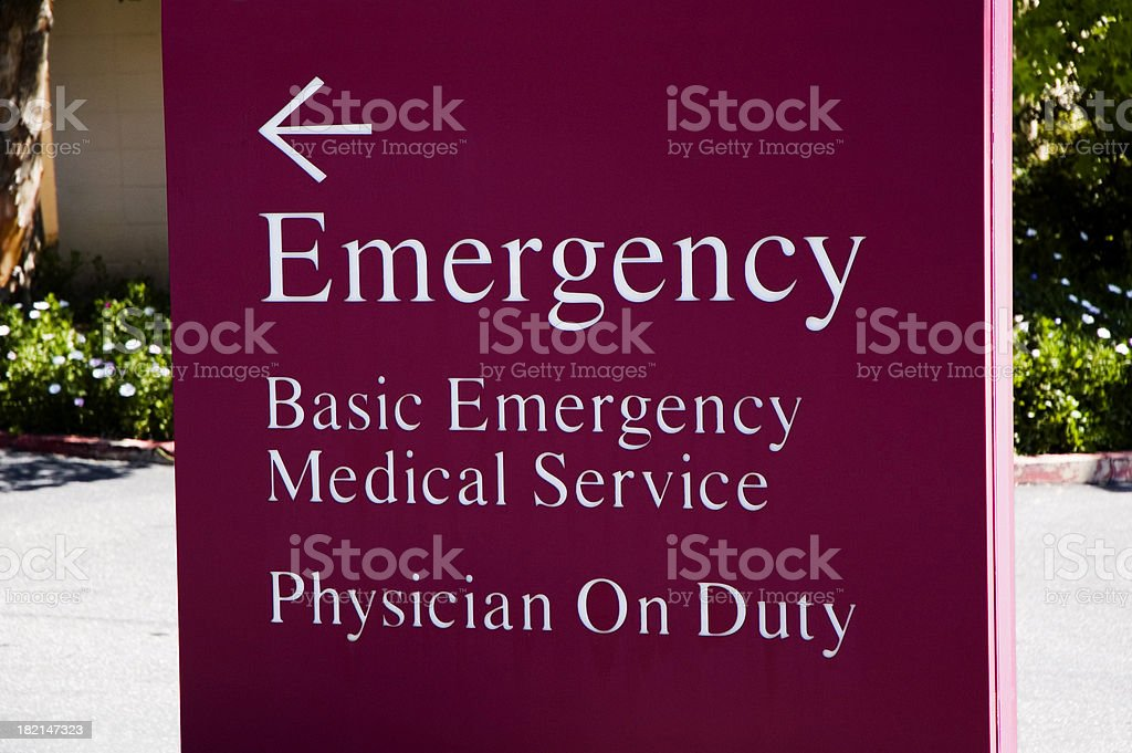 Hospital emergency sign royalty-free stock photo