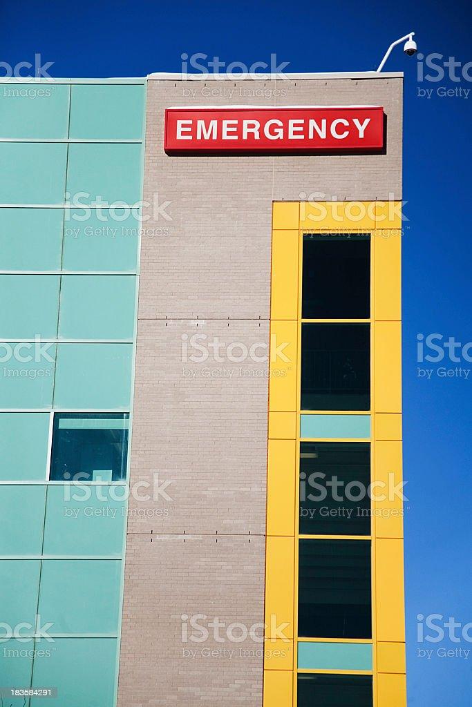Hospital emergency sign royalty-free stock photo