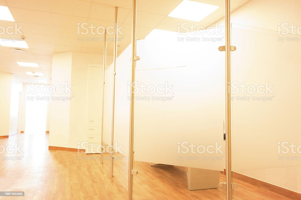 Hospital entrance area stock photo