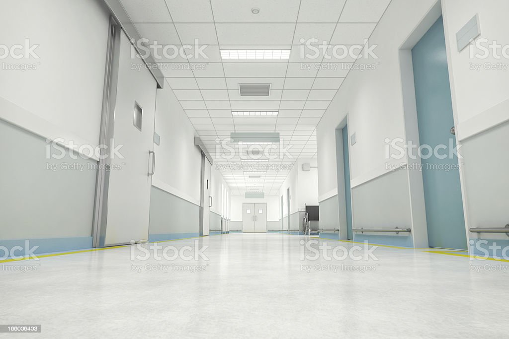 Hospital Floor Interior stock photo