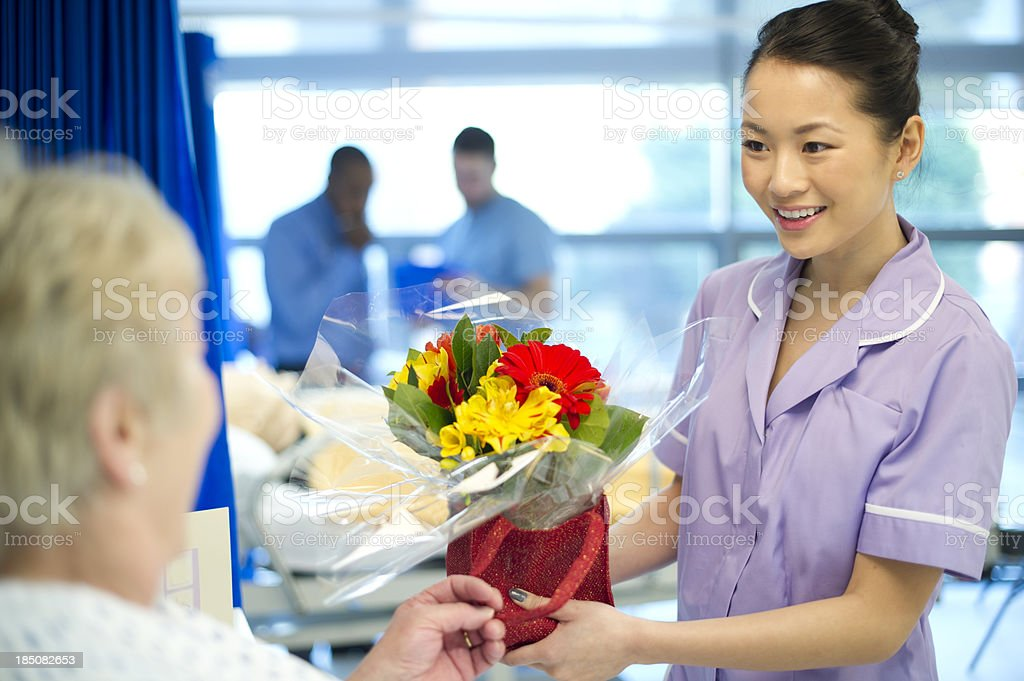 hospital flowers royalty-free stock photo