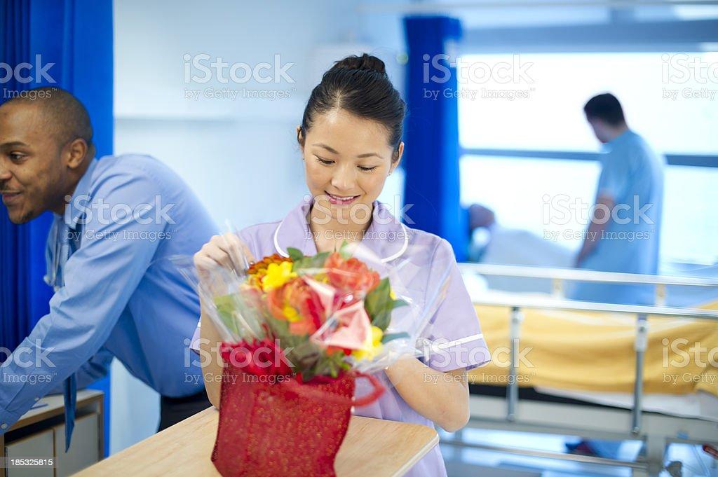 hospital flowers royalty-free stock photo