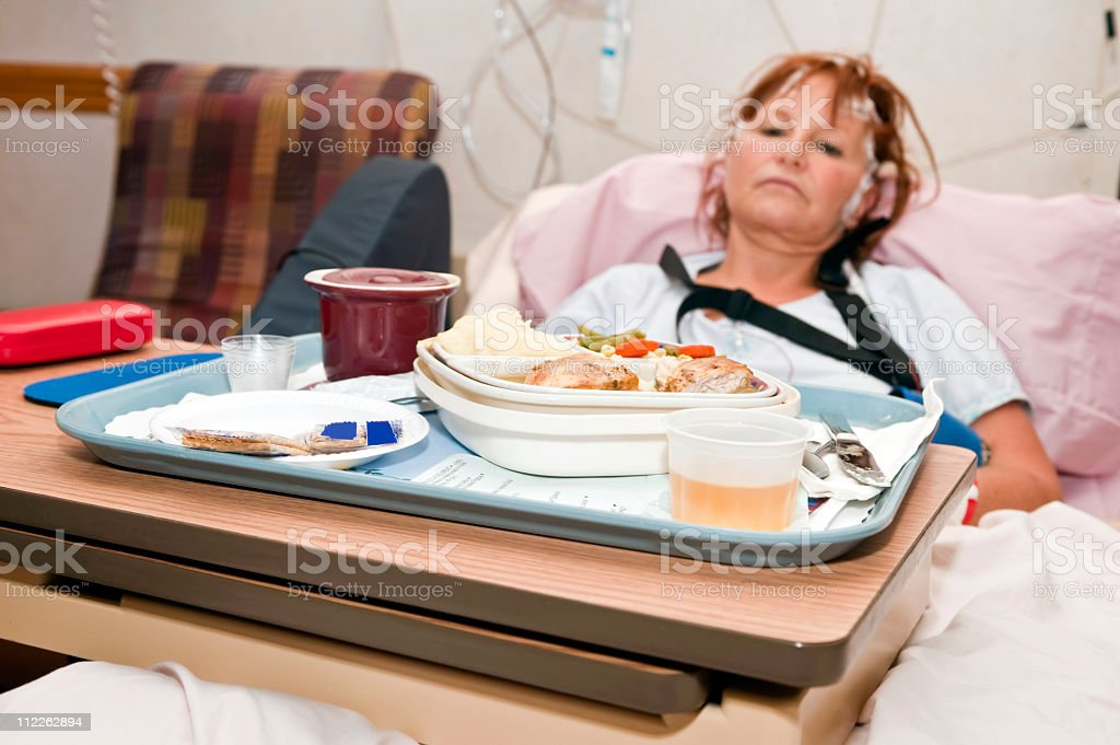 hospital food stock photo