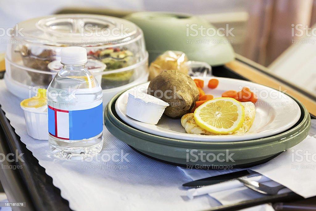 Hospital food tray stock photo