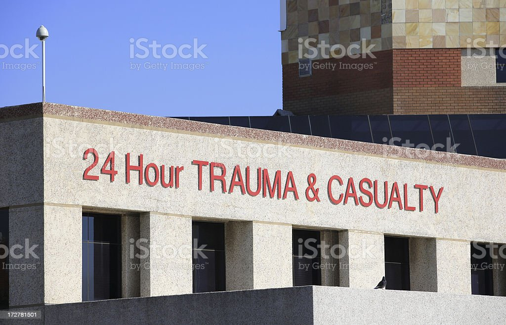 Hospital front close up royalty-free stock photo